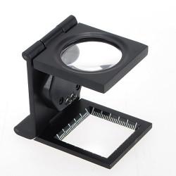 Kvalitet 5X Fold Stand Skala Tyg Duk Förstoring Lupp Reparationsverktyg