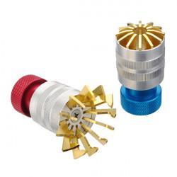 Rote und blaue Uhrmacher Plastikkristall Entfernen Werkzeuge