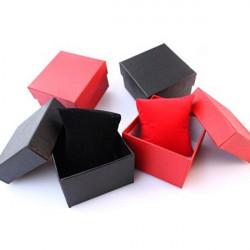 Röd Blå Svart Square Kartong Papper Smycken Armbandsur Box
