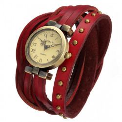 Rivet Leather Bracelet Watch