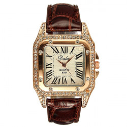 Rose Gold Bling Crystal Ladies Women Girl Bracelet Quartz Wrist Watch