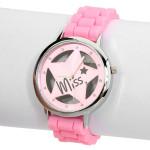 Gummi Hohl Transparente Stern Rhinestone Frauen Armbanduhr Uhren