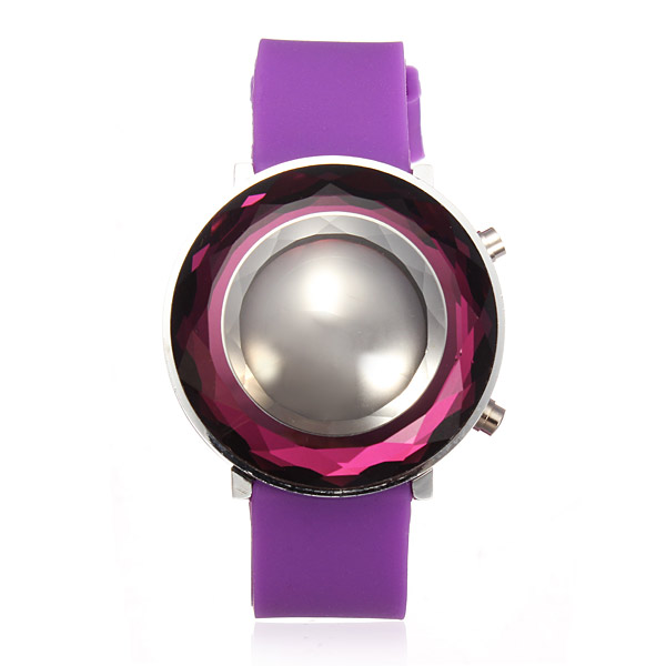 Gummi LED Tredimensionell Jelly Mode Dam Armbandsur Klockor