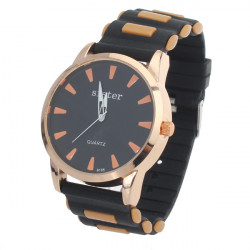 SISTER Fashion Silicone Quartz Simple Style Watch