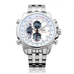SKMEI 0993 Dual Time Back Light Chronograph Männer Quarz Armbanduhr