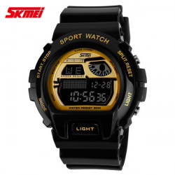 SKMEI 1010 Alarm Waterproof Silicone Band Sport Watch
