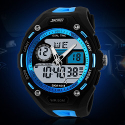 SKMEI 1015 Digital Analog Wtaerproof Quartz Sport Watch