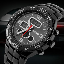 SKMEI 1031 Stainless Steel Waterproof Analog Digital Sport Watch
