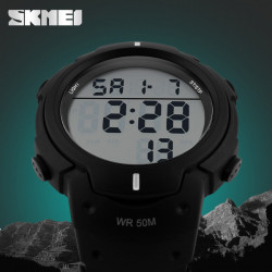 SKMEI 1068 LED Digital Big Dial Warterproof Outdoor Sport Quartz Watch