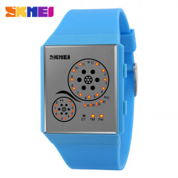 SKMEI 1073 Rectangle LED Digital Waterproof Sport Wrist Watch