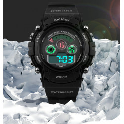 SKMEI 1079 Digitaler Alarm Silikon Band wasserdicht Sportuhr