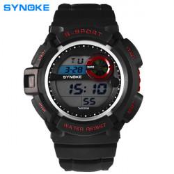 SYNOKE 61586 LED Alarm wasserdicht Sportuhr