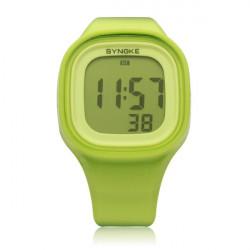 SYNOKE 66896 Silikon Gelee Sport Digital Mann Frauen Armbanduhr