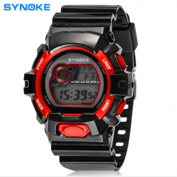 SYNOKE 67556 LED Digital Alarm Waterproof Sport Watch