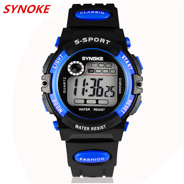 SYNOKE 99269 Child Adult LED Alarm Waterproof Sport Watch Watch
