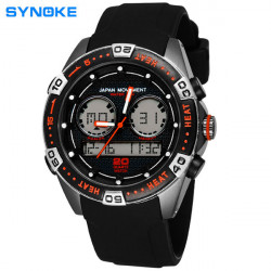 SYNOKE Men Waterproof Swimming Racing Sports Digital Wrist Watch