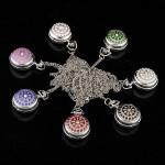 Silver Classic Crystal Quartz Lommeur Med Halskæde til Gift Ure & Armbåndsure
