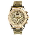 Edelstahl Band Strass Luxus Frauen Armbanduhr Uhren
