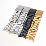 Stainless Steel Strap Side Push Button Buckle Watch Band Watch Tools