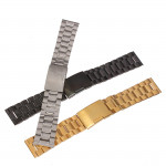 Straight Stainless Steel Strap Side Push Button Buckle Watch Band Watch Tools