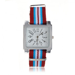Stripe Woven Canvas Watch