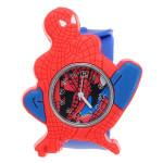 Super Hero Spider Man Silicon Slap Blue Strap Children Quartz Watch Watch