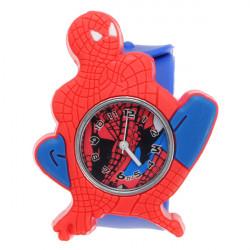 Super Hero Spider Man Silicon Slap Blue Strap Children Quartz Watch