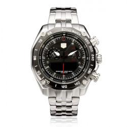 TVG 3168 Rostfritt Stål Datum Vecka 24H Display Herr Armbandsur Klocka