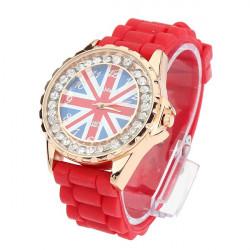 UK Flag Strass Uhr