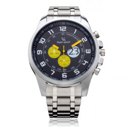 V6 A003 Super Speed Big 3 Dial Stainless Steel Number Sport Men Watch