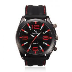 V6 Men Simple Style Sports Round Silicone Quartz Fashion Watch
