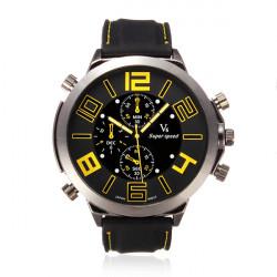 V6 Quartz Sport Big Dial Fashion Casual Wrist Watch
