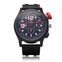 V6 V0144 Super Speed große Zifferblatt Anzahl Silikon Runde Sport Mann Uhr