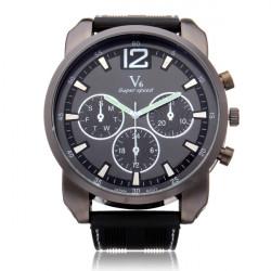 V6 V0183 Super Speed Big 3 Dial Silicone Round Sport Men Wrist Watch