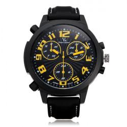 V6 V0190 Super Speed Big Dial Number Rubber Men Wrist Watch