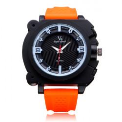 V6 V0191 Super Speed große Zifferblatt Anzahl Gummi Mann Armbanduhr