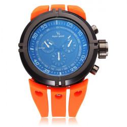V6 V0202 Super Speed Sport Orange Stor Urtavla Herr Quartz Armbandsur