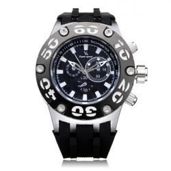 V6 V0203 Super Speed große Zifferblatt Anzahl Rubber Military Mann Armbanduhr