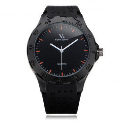 V6 V0231 Super Speed Big Dial Number Rubber Men Wrist Watch