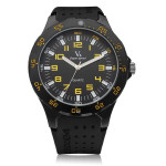 V6 V0231 Super Speed Sport Black Big Dial Men Quartz Wrist Watch Watch