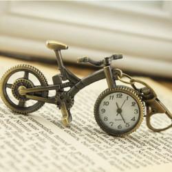 Vintage Bicycle Shape Alloy Kæde Lommeur