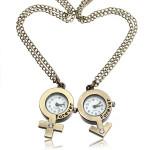 Weinlese Kristall Männer Frauen Bronze Immer Paar Liebhaber Taschenuhr Uhren