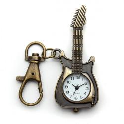 Vintage Gitarren Form Legierung Kette Taschenuhr