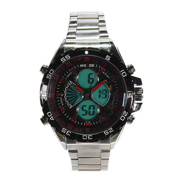 WEIDE LED Electronic Backlight Digital Dual Display Sport Watch Watch