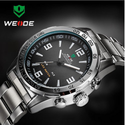 WEIDE WH1009 LED Multifunktion Mann Quarz Armbanduhr