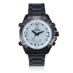 WEIDE WH 2306B Schwarz Band LED wasserdichte Sport Analog Mann Armbanduhr
