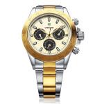 WEIDE WH3309 3 Dial Silber Edelstahl Militär Mann Armbanduhr Uhren