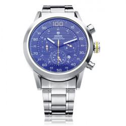 WEIDE WH3311 Silver Rostfritt Stål Militär Datum Herr Armbandsur Klocka