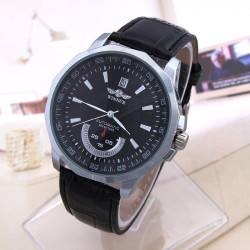 WINNER Men Fashion Calendar Automatic Mechanical Casual Watch