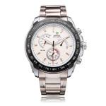 Weide WH1111 Silver Stainless Steel 3 Dial Men Quartz Wrist Watch Watch